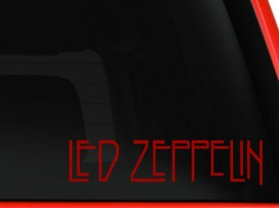 Led Zeppelin Rock Band Car Window Vinyl Decal Sticker (Red 8 inches)
