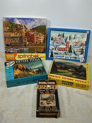 5 Vintage lot of various puzzles