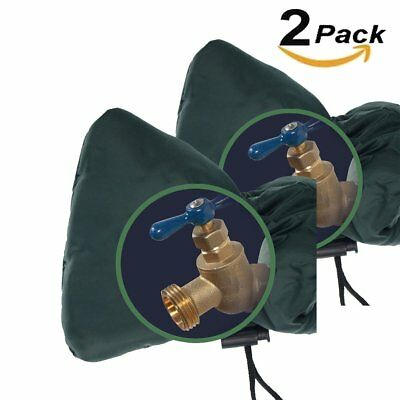 2 Pack Outdoor Water Faucet Cover Socks Reusable Insulation Anti Freeze Hose Bib