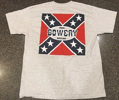 Vintage 90's Large The Bowery Myrtle Beach USA 2 Sided T-Shirt Unique Rare XL
