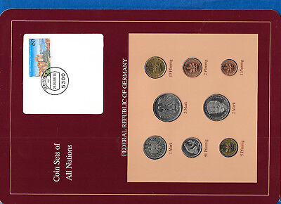 Coin sets of all nations Germany 1986-1988 UNC 5 Mark 1987 2 Mark 1988 1 Mark 86