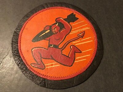 WW2 WWii US AIR FORCE PATCH-84th Bomber Squadron-ORIGINAL! Leather BEAUTY! RARE!
