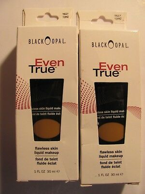 Black Opal Even True Flawless Liquid Foundation Truly Topaz 1 FL OZ Lot of 2