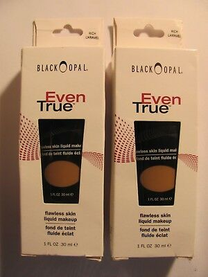 Black Opal Even True Flawless Liquid Foundation Rich Caramel 1 FL OZ Lot of 2