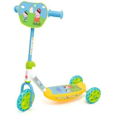 Smoby Peppa Pig 3 Wheel Scooter, Kids Ride On Push Scooter