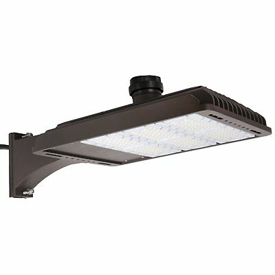 185W Parking Lot Weatherpoof Area Lighting Fixture 22200lm 5000k Arm Mounted DLC