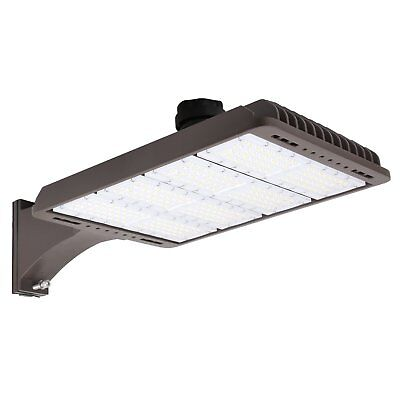 300W Parking Lot Weatherpoof Area Lighting Fixture 36000lm 5000k Arm Mounted DLC