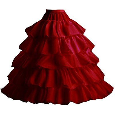 Women 3/4/6 Hoops Petticoats Mermaid Crinoline Half Slips Underskirt For Bridal
