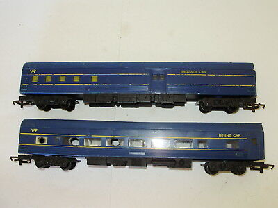 Hornby Vic rail Dining/baggage. Rough/damaged cond. OO scale. 2 rail DC. No box.