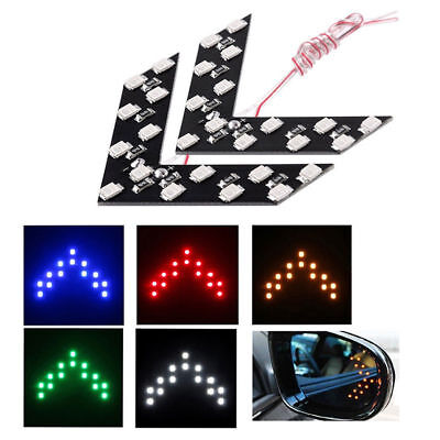 1pair Arrow Panel 14SMD LED Car Side Mirror Turn Signal Rearview Indicator Light