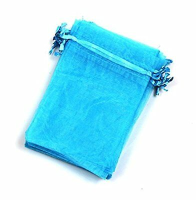 "EDENKISS Blue Turquoise Color Drawstring Organza Jewelry Pouch Bags 2.8x3.6"" ..."