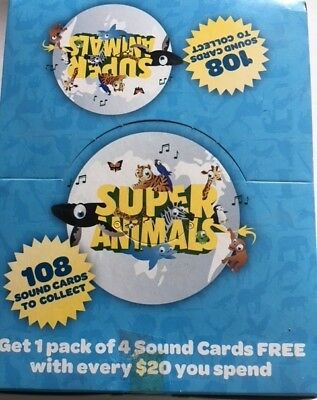 Woolworths Super Animals Sound Cards UNOPENED BOX