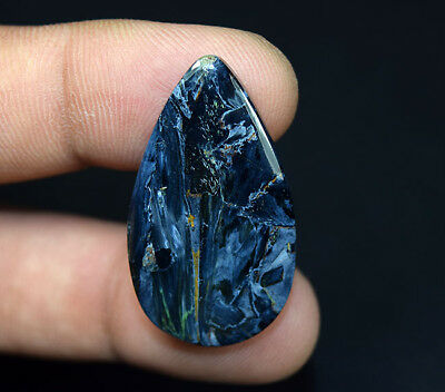 24.20 Cts. 100 % Natural Pietersite Gemstone 35 * 20 * 4 mm Pear Cabochon