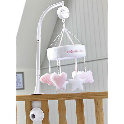 New Clair De Lune Pink Little Dreams Musical Wind Up Cot / Cot Bed Mobile