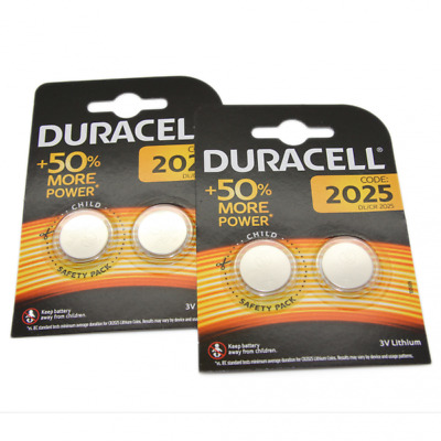 4x Duracell CR2025 3V Lithium Button Battery Coin Cell DL/CR 2025 Expiry 2027