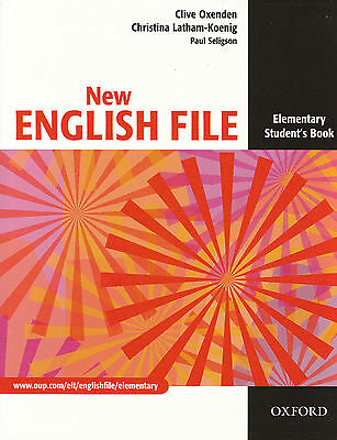 Oxford NEW ENGLISH FILE Elementary Student's book / Coursebook 9780194384254 NEW