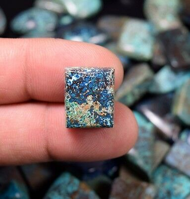 Cute  Chrysocolla ! 16.30 Cts. 100 % Natural Cushion Cab For Silver Jewelry