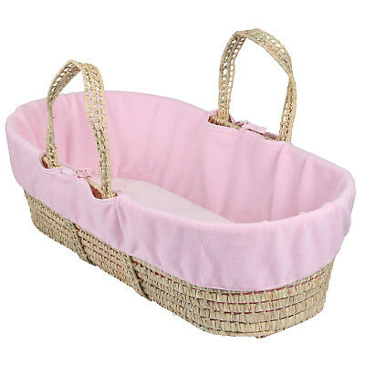 New Clair De Lune Pink Super Soft Fleece Liner For Palm & Wicker Moses Baskets