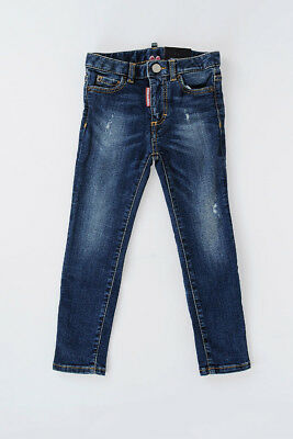 DSQUARED2 Nuovo Pantalone Bambina Bimba Jeans M/WAIST TWIGGY In Denim stretch