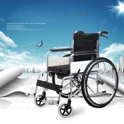 Aluminium Alloy Wheelchair Tyres Brakes Folding Rear PU Wheel+Detachable Cushion