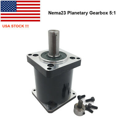 US Ship! Nema23 Planetary Gearbox 5:1 Geared Speed Reducer for 57 Stepper Motor