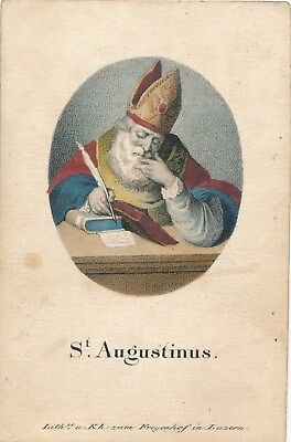 Nr 15425 Andachtsbild holy card Litho  coloriert St Augustinus