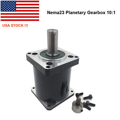 US Ship! 10:1 Geared Speed Reducer Nema23 Planetary Gearbox for 57 Stepper Motor