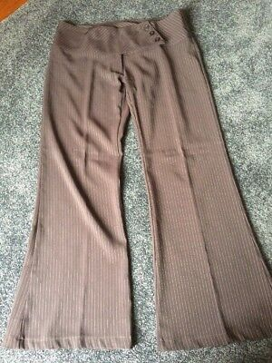 "80""s Brown Striped Pants Size 12 Pagani"