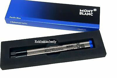 Montblanc 105159 Rollerball Refills (M) 2x1 /box Pacific Blue (Made in Germany)