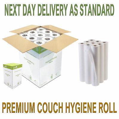"12 Premium Quality White 20"" Couch Rolls Hygiene Roll, Buy 2+ Get 10% Off"