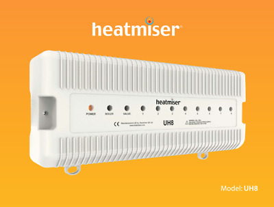 HEATMISER Wiring Centre UH8 230V 8 Zones & Hot Water Underfloor Heating System