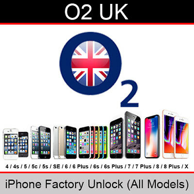 O2 / Tesco Mobile UK iPhone Factory Unlocking Service (All Models upto iPhone X)