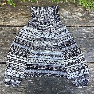 Children's girls harem pants boho baggy summer hippy trousers 2 - 4 years