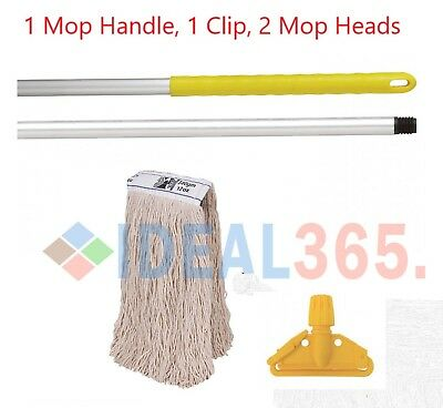 Yellow Kentucky Mop Set Complete with Extra Mop Head, FREE NEXT DAY DELIVERY