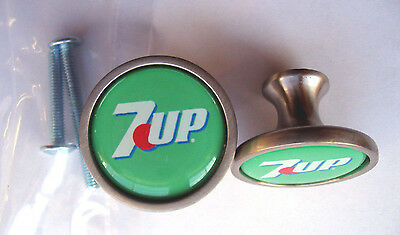 7-UP Soda Cabinet Knobs, 7 UP Soda Logo Cabinet Knobs , Seven Up Knobs