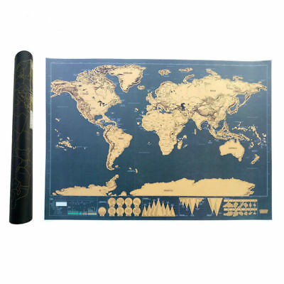 Scratch Map Of The World Travel Edition Deluxe Map Personalized...
