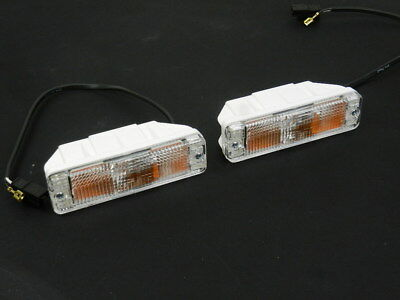 Vw Golf I / Ii Mk1 & Mk2 Jetta Caddy Polo Front Indicator Lights Set Clear Pair