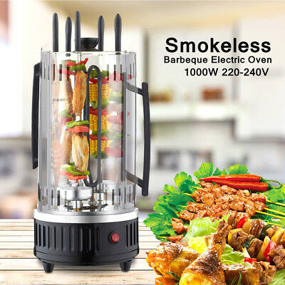Electric Barbeque Grill Vertical Rotating Oven Rotisserie Kebab Veg BBQ Machine