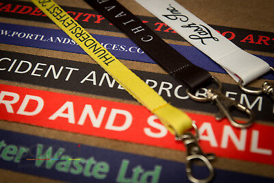 Custom Printed Personalised Lanyard Neck Strap - Any Name/Any Text/Any Colour