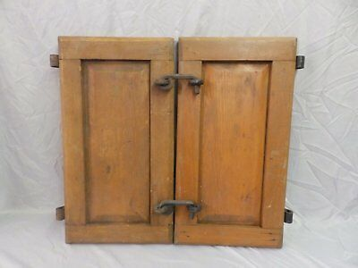 Antique Country Cupboard Doors 24x13 Cabinet Primitive Iron Hardware Old 362-18P