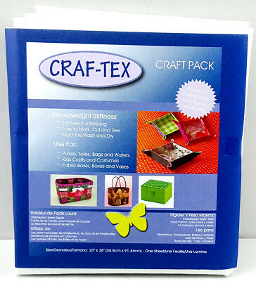 NEW   Craftex 3510-02   Polyester Sew in Heavy Stiffness 50.8x91.4cm   FREE POST