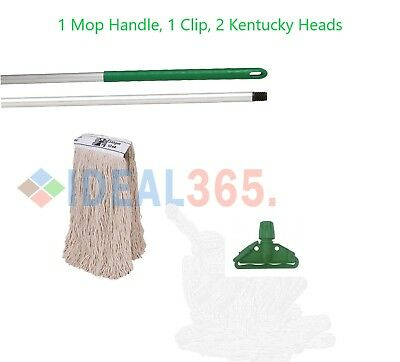 Green Kentucky Mop Set Complete with Extra Mop Head, FREE NEXT DAY DELIVERY