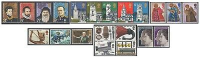 1972 Royal Mail Commemorative Sets MNH. Sold separately & as full year set.