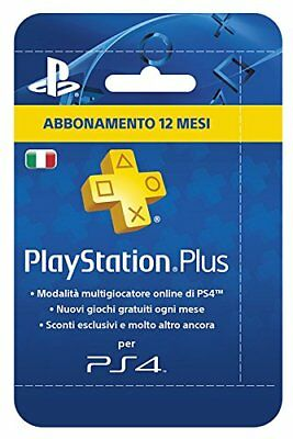 Abbonamento Annuale Playstation Plus Card Hang Da 12 Mesi - 365 Gg Sony Ps4