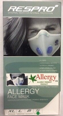 Respro Allergy Mask MCS Ei Respro Allergy Face Mask Chemical Sensitivity Small