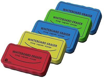 Magnetic Whiteboard Eraser Dry Wipe Clean Multi Pack Rubber Small Cling Office