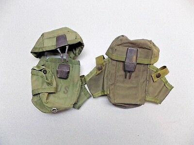 Lot of 2 USGI M16 Small Arms Ammo Olive green 3 magazine pouch w/ ALICE clips
