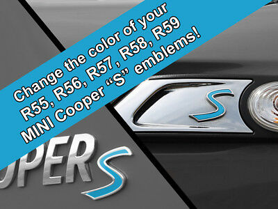 Scuttle and Rear Emblem S Decal Replacements for MINI Cooper R55 R56 R57 R58 R59