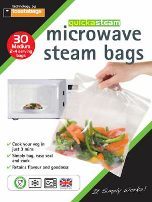 QUICKASTEAM - MEDIUM SIZE MICROWAVE STEAM BAGS 30 PK and more - GREAT VALUE