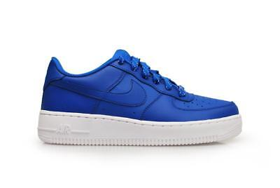 5f68ad9db908a Juniors Nike Air Force 1 (GS) - 596728 429 - Game Royal White Trainers